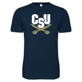 Next Level SoftStyle Navy T Shirt-Primary Athletic Mark