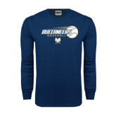 Navy Long Sleeve T Shirt-Buccaneers Baseball Flying Ball