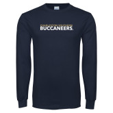 Navy Long Sleeve T Shirt-Charleston Southern Buccaneers
