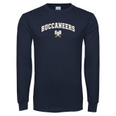Navy Long Sleeve T Shirt-Arched Buccaneers