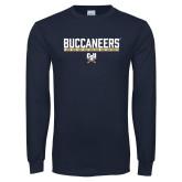 Navy Long Sleeve T Shirt-Basketball in Bar