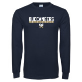 Navy Long Sleeve T Shirt-Volleyball in Bar