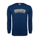Navy Long Sleeve T Shirt-Charleston Southern Arched