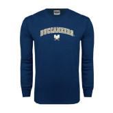 Navy Long Sleeve T Shirt-Buccaneers Arched