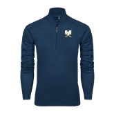 Syntrel Navy Interlock 1/4 Zip-CSU-Swords Logo