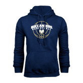 Navy Fleece Hood-Buccaneers Basketball Arched