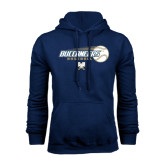 Navy Fleece Hood-Buccaneers Baseball Flying Ball