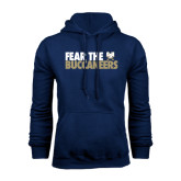 Navy Fleece Hood-Fear The Buccaneers