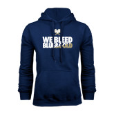 Navy Fleece Hood-We Bleed Blue & Gold
