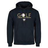 Navy Fleece Hoodie-Golf Star w/ Bars