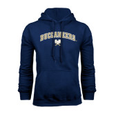 Navy Fleece Hood-Buccaneers Arched