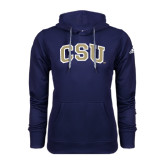 Adidas Climawarm Navy Team Issue Hoodie-CSU Arched