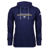 Adidas Climawarm Navy Team Issue Hoodie-Charleston Southern Buccaneers Stacked w/ Logo