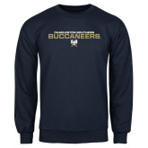 Navy Fleece Crew-Charleston Southern Buccaneers Stacked w/ Logo