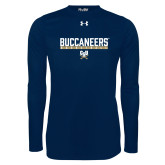 Under Armour Navy Long Sleeve Tech Tee-Basketball in Bar