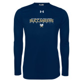 Under Armour Navy Long Sleeve Tech Tee-Football Yards