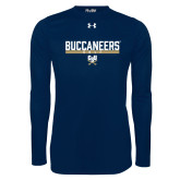 Under Armour Navy Long Sleeve Tech Tee-Golf in Bar