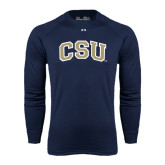 Under Armour Navy Long Sleeve Tech Tee-CSU Arched