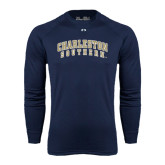 Under Armour Navy Long Sleeve Tech Tee-Charleston Southern Arched