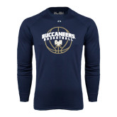 Under Armour Navy Long Sleeve Tech Tee-Buccaneers Basketball Arched