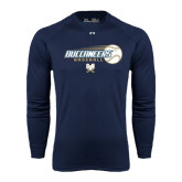 Under Armour Navy Long Sleeve Tech Tee-Buccaneers Baseball Flying Ball