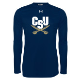 Under Armour Navy Long Sleeve Tech Tee-Primary Athletic Mark