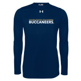 Under Armour Navy Long Sleeve Tech Tee-Charleston Southern Buccaneers