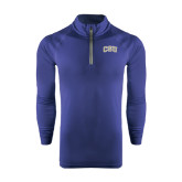 Under Armour Navy Tech 1/4 Zip Performance Shirt-CSU Arched