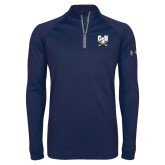 Under Armour Navy Tech 1/4 Zip Performance Shirt-Primary Athletic Mark