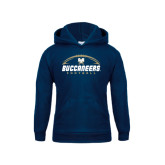 Youth Navy Fleece Hood-Buccaneers Football Horizontal