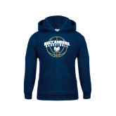 Youth Navy Fleece Hood-Buccaneers Basketball Arched