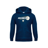 Youth Navy Fleece Hood-Buccaneers Baseball Flying Ball