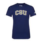 Adidas Navy Logo T Shirt-CSU Arched
