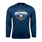 Syntrel Performance Navy Longsleeve Shirt-Buccaneers Basketball Arched