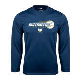 Syntrel Performance Navy Longsleeve Shirt-Buccaneers Baseball Flying Ball