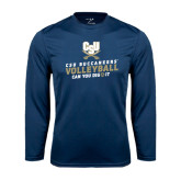 Syntrel Performance Navy Longsleeve Shirt-Volleyball Can You Dig It