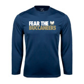 Syntrel Performance Navy Longsleeve Shirt-Fear The Buccaneers