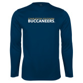 Performance Navy Longsleeve Shirt-Charleston Southern Buccaneers