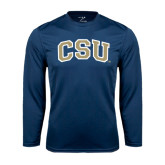 Syntrel Performance Navy Longsleeve Shirt-CSU Arched