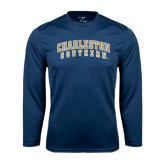 Syntrel Performance Navy Longsleeve Shirt-Charleston Southern Arched