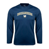 Syntrel Performance Navy Longsleeve Shirt-Buccaneers Arched