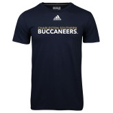 Adidas Climalite Navy Ultimate Performance Tee-Charleston Southern Buccaneers