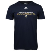 Adidas Climalite Navy Ultimate Performance Tee-Charleston Southern Buccaneers Stacked w/ Logo