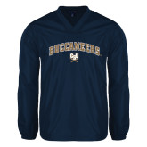 V Neck Navy Raglan Windshirt-Buccaneers Arched