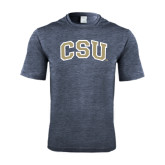 Performance Navy Heather Contender Tee-CSU Arched