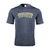 Performance Navy Heather Contender Tee-Charleston Southern Arched