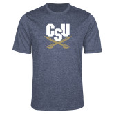 Performance Navy Heather Contender Tee-Primary Athletic Mark
