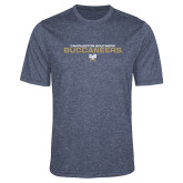 Performance Navy Heather Contender Tee-Charleston Southern Buccaneers Stacked w/ Logo