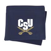 Navy Sweatshirt Blanket-Primary Athletic Mark