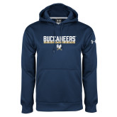 Under Armour Navy Performance Sweats Team Hoodie-Volleyball in Bar